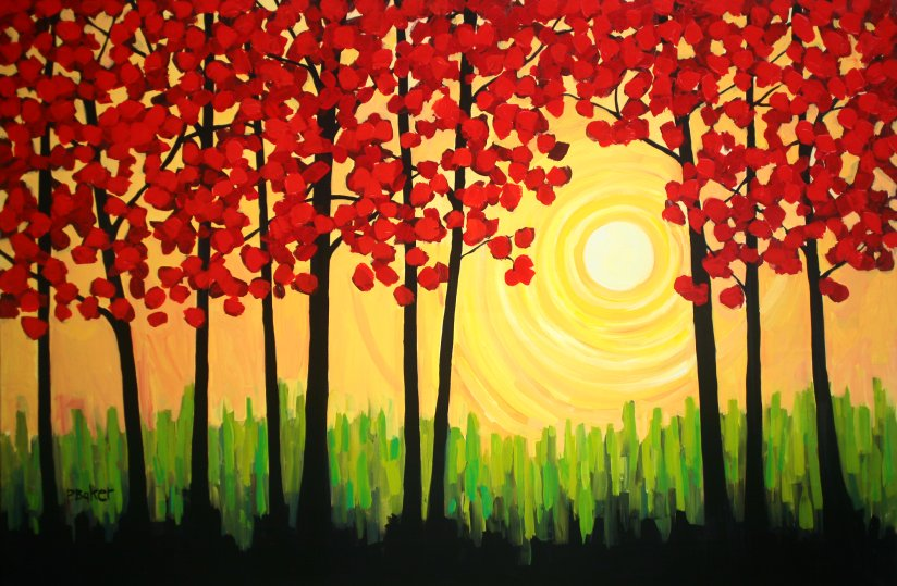Patty baker fine art blog original acrylic paintings for Fall paintings easy
