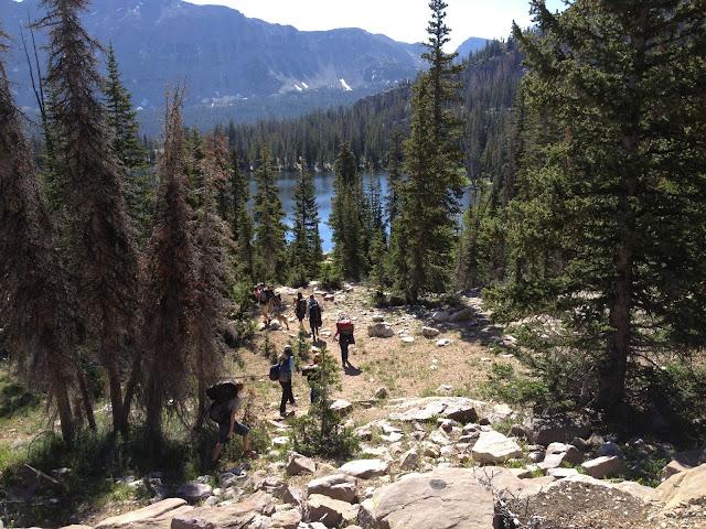 Backpacking with kids – Hayden Lake, Utah