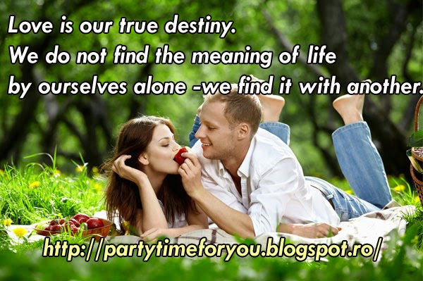 Love is our true destiny. We do not find the meaning of life by ourselves alone - we find it with another.