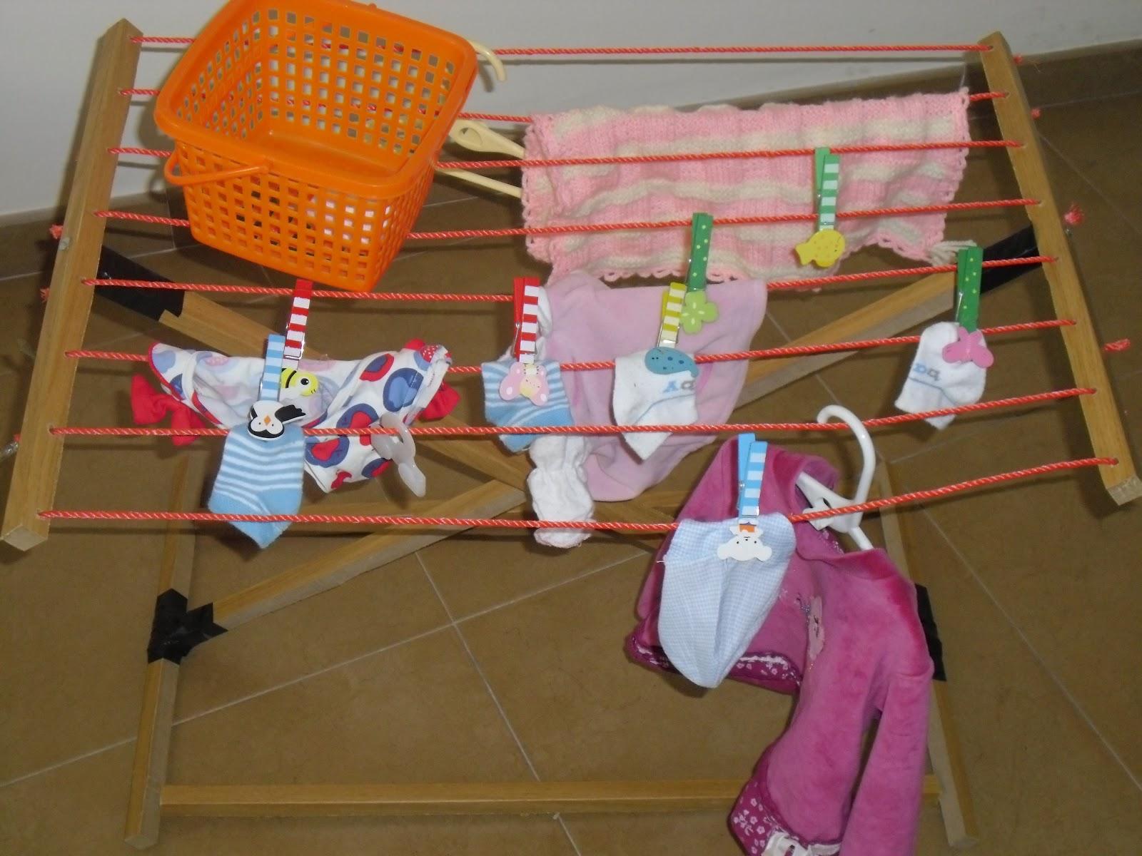 La jirafa 49 haciendo coladas - Como hacer un tendedero de ropa ...