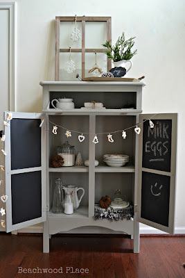 vintage farmhouse cupboard makeover
