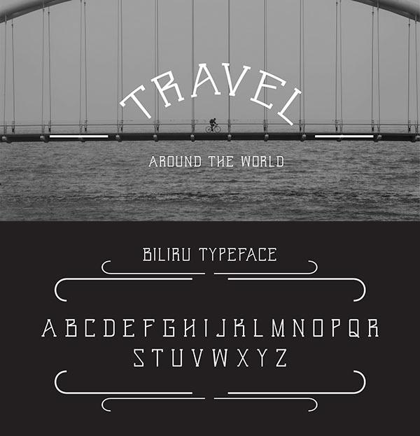 Font Terbaru Untuk Desain Grafis - Biliru Font Letters