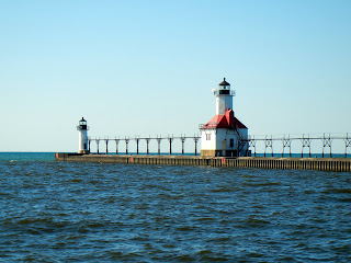 St. Joseph Pier Lighthouse in St. Joseph, Michigan