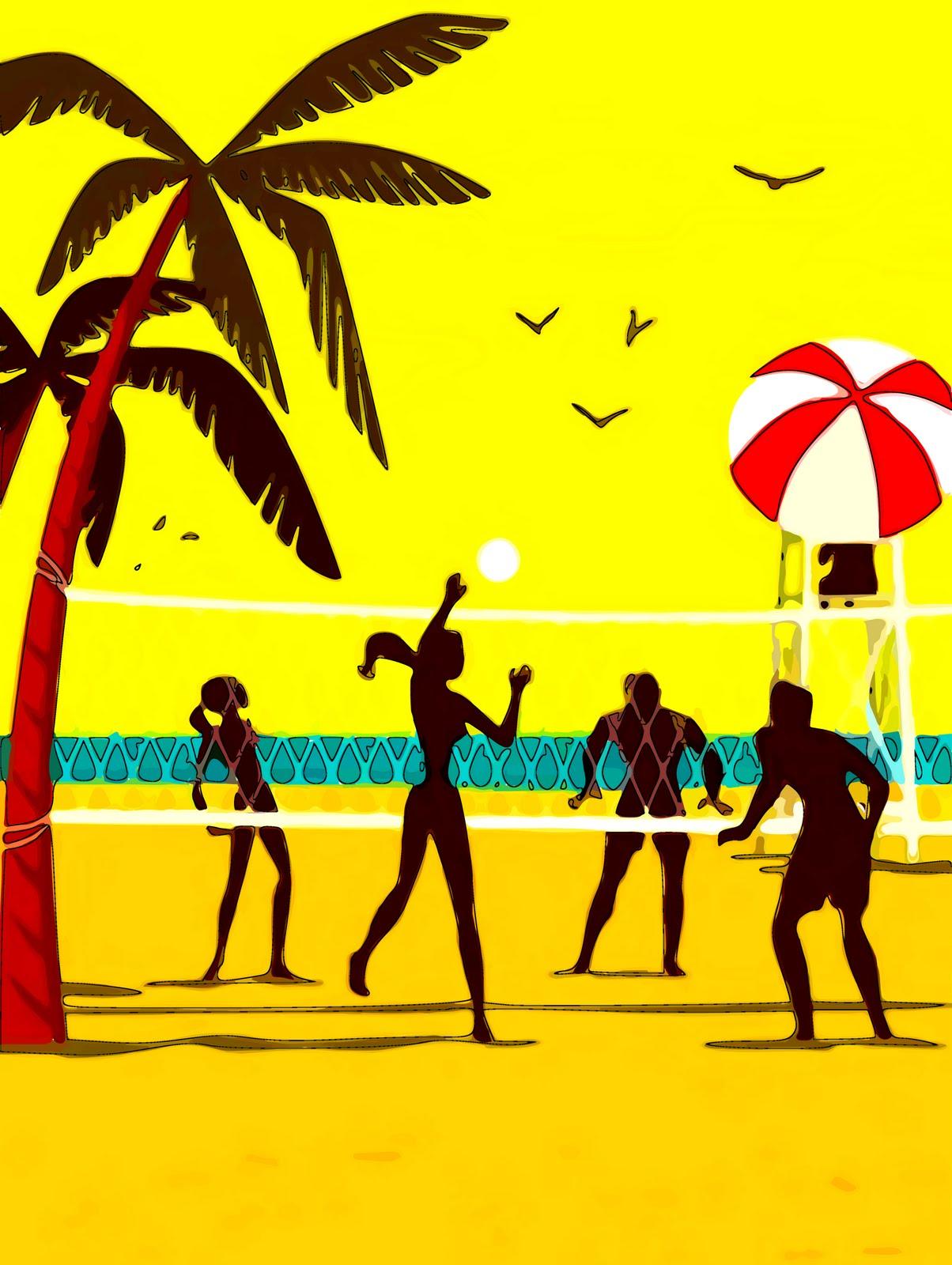 beach teens American