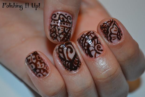 polishing henna design