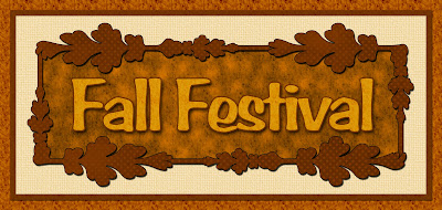 fall festival title for scrapbooking or crafting in autumn colors.