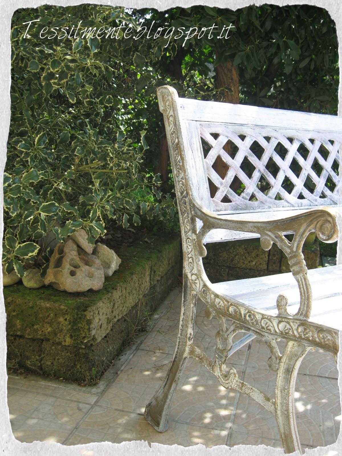 Tessil mente bottega creativa panchina shabby chic in - Shabby chic giardino ...