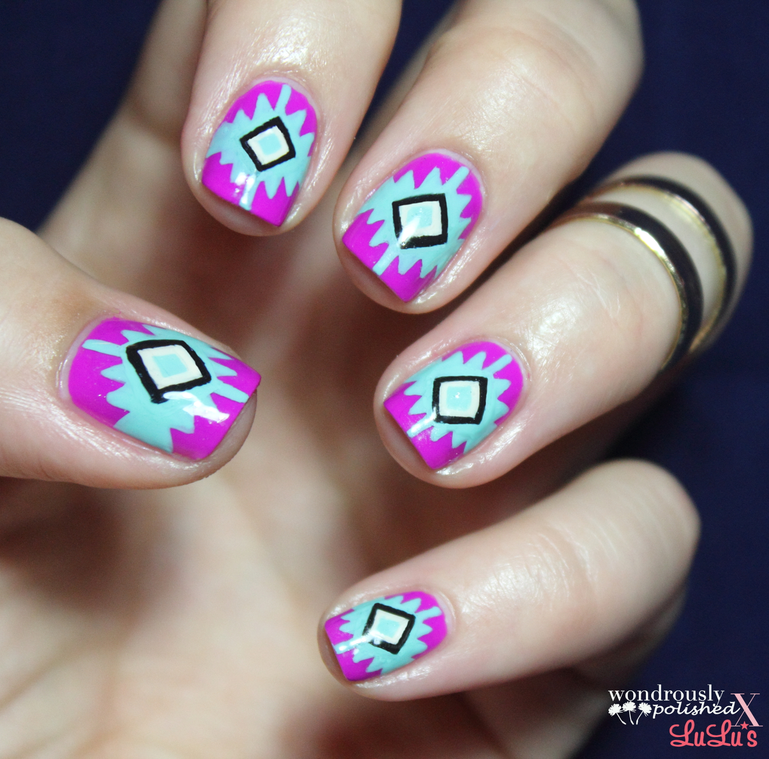 Displaying 18> Images For - Tribal Nail Art Tutorials...