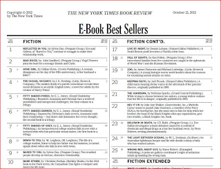ebook and 12 combined print and ebook on new york times best seller