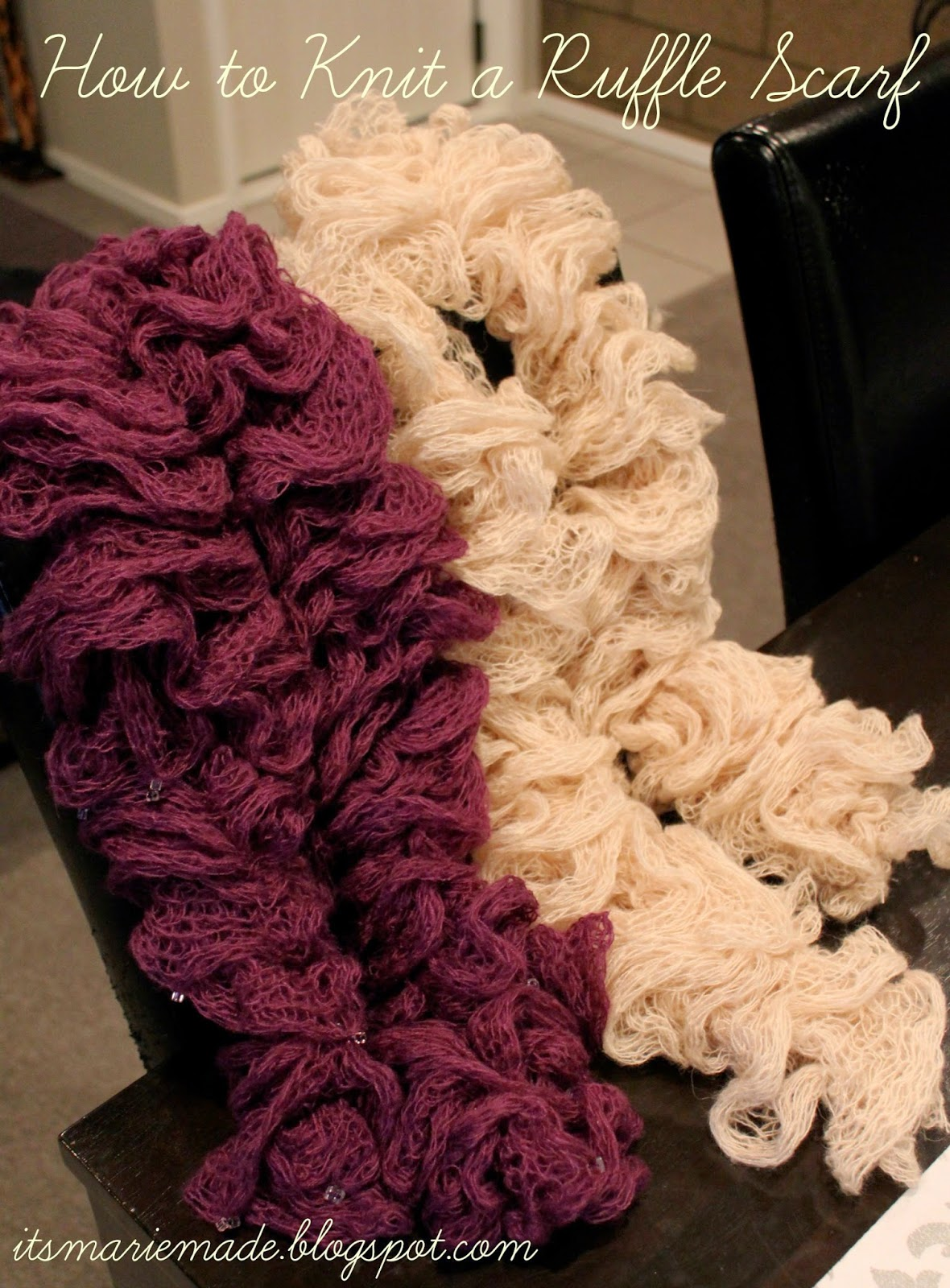 it s made how to make a ruffle scarf with mesh yarn
