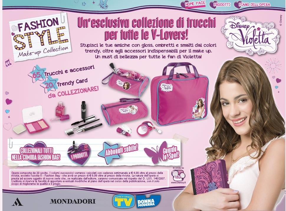 Word Violetta Fashion Style Make Up Collection