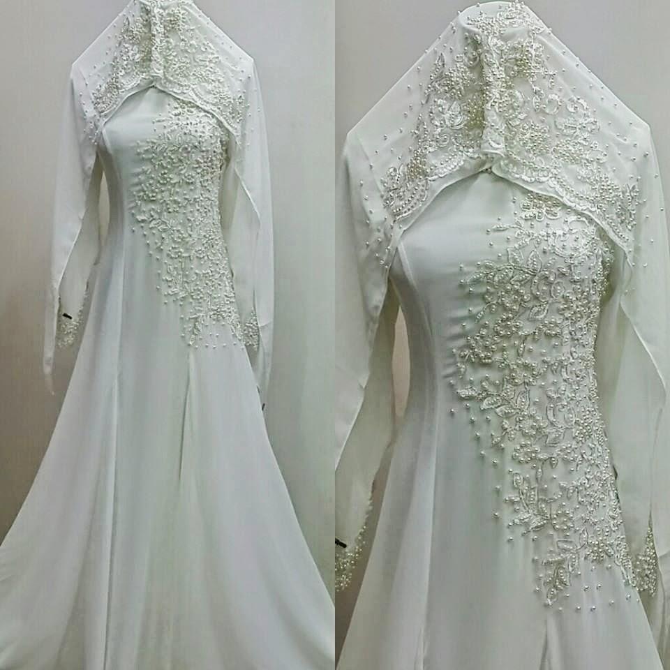 Baju kahwin muslimah www imgarcade com online image arcade - Baju Nikah Putih Never Goes Wrong Cantik And Nampak Suci
