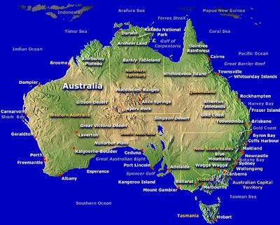 Map of Australia Region
