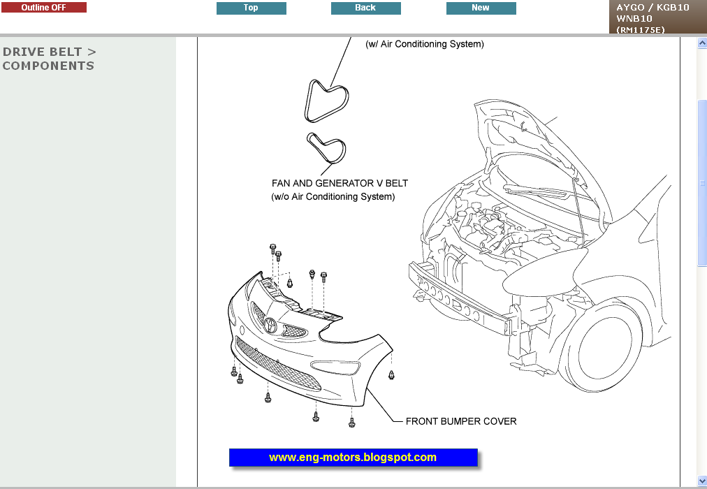Toyota Aygo Repair Manual