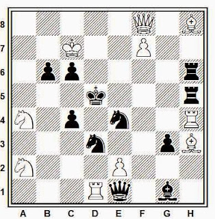 Problema de mate en 2 compuesto por Maxwell Bukofzer (The Good Companion Chess Problem Club, 1922)