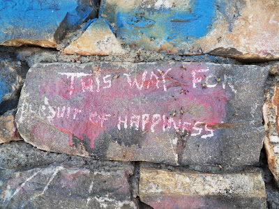 Pursuit of Happiness graffiti