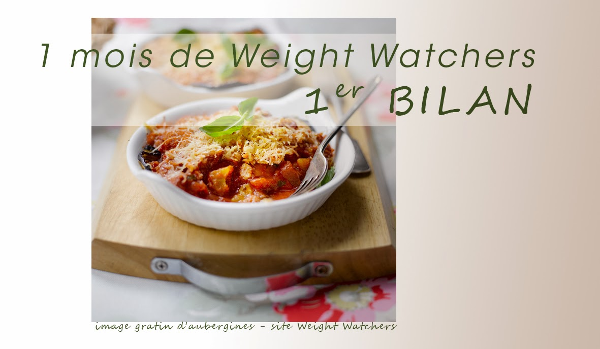 1 mois de Régime Weight Watchers - 1er Bilan