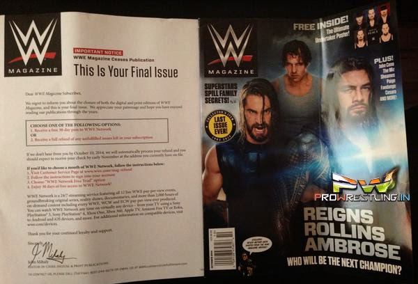 "News - End Of An Era For WWE ""Final Issue of WWE Magazine"" - Back/Front Cover Inside"