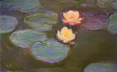Water Lilies by Claude Monet, www.thebrighterwriter.blogspot.com