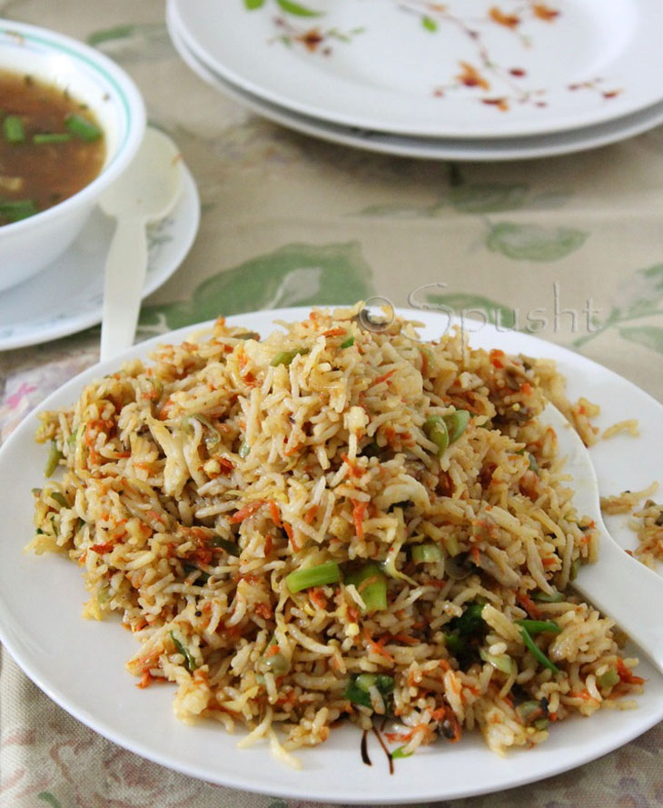 Spusht: Chinese Fried Rice: Indo-Chinese Food