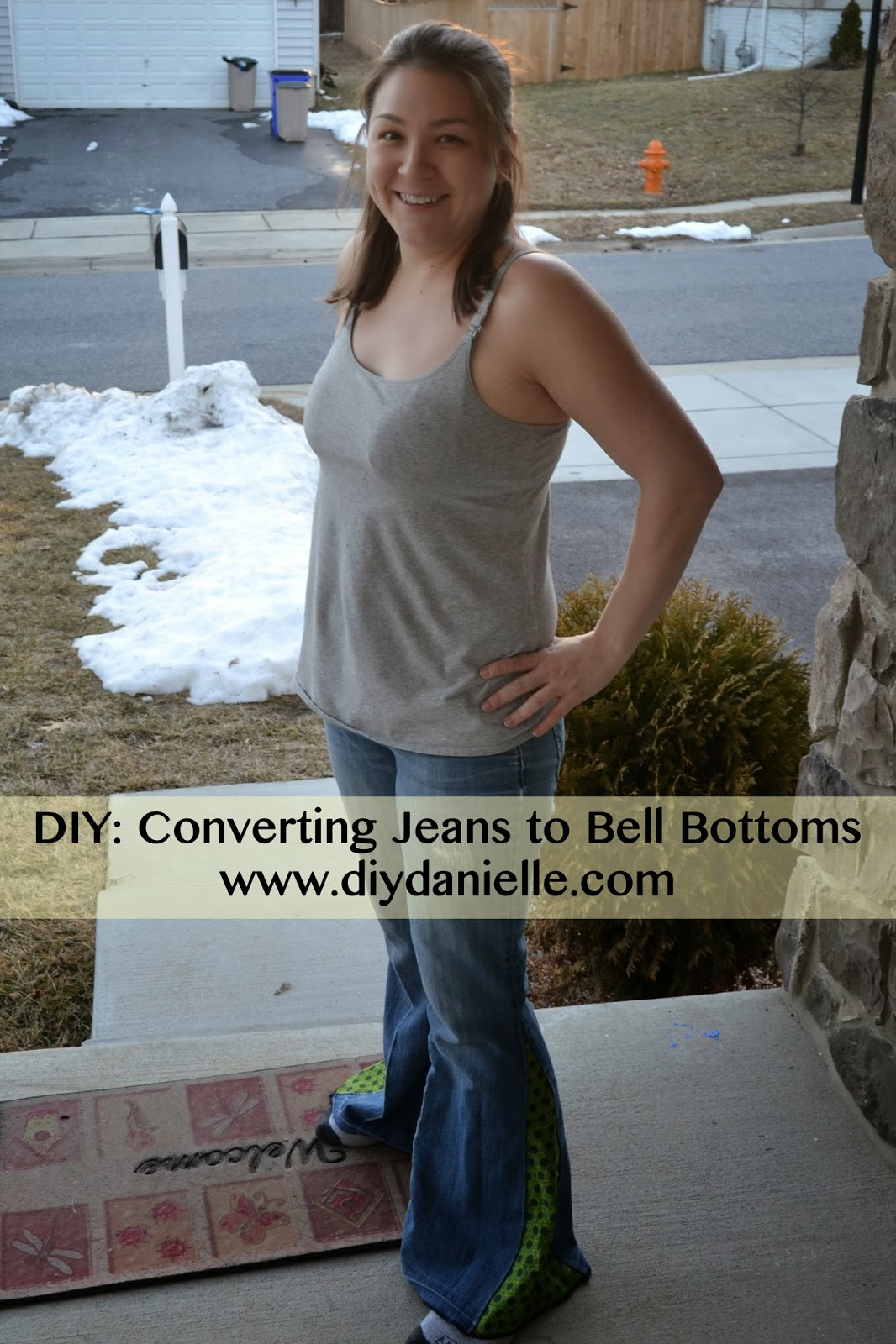 how to convert jeans into bell bottoms
