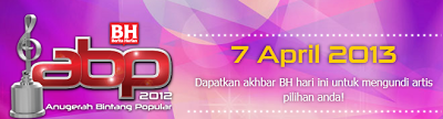Top 5 Finalis Anugerah Bintang Popular Berita Harian ABPBH 2012