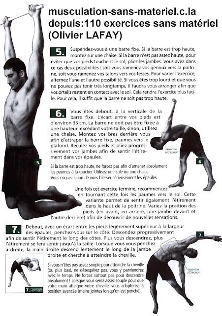 musculation sans materiel: mouvements de souplesse (Le haut du corps)