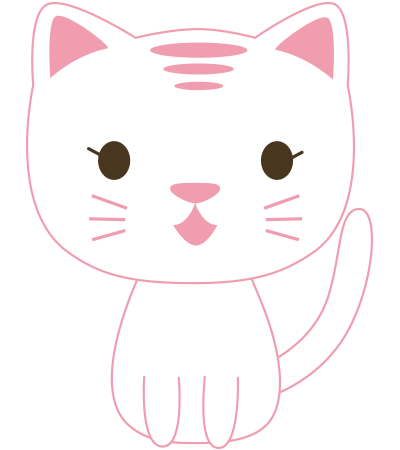 Pinky cat emoticon
