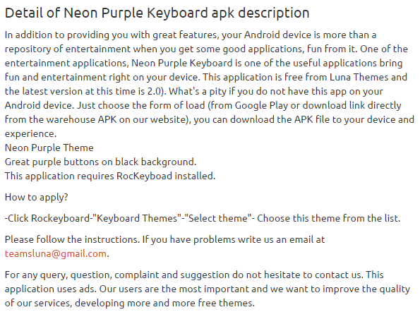 Neon Purple Keyboard 2.0 apk