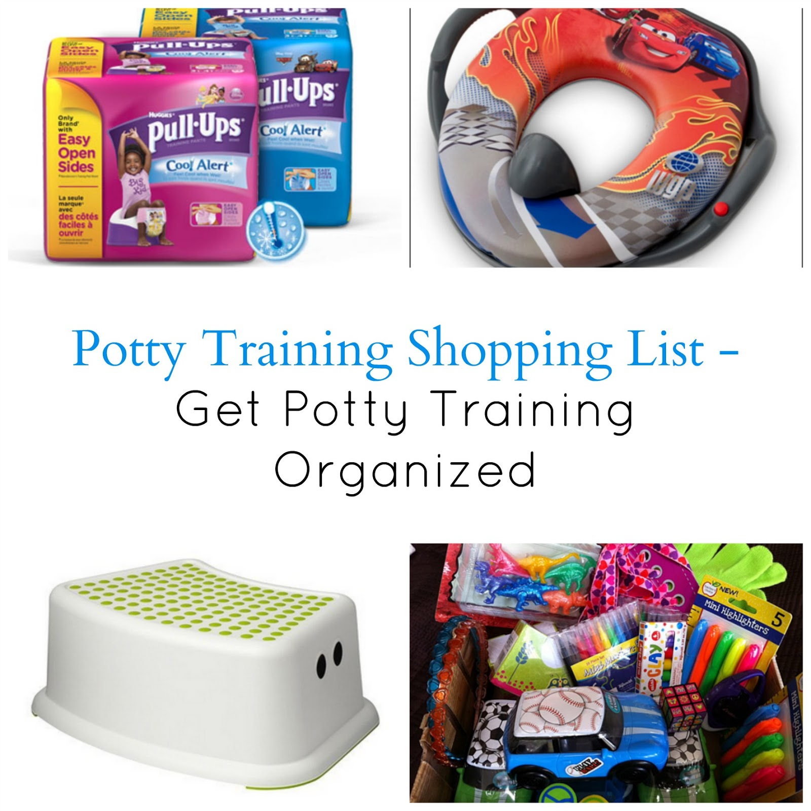 potty training organizing