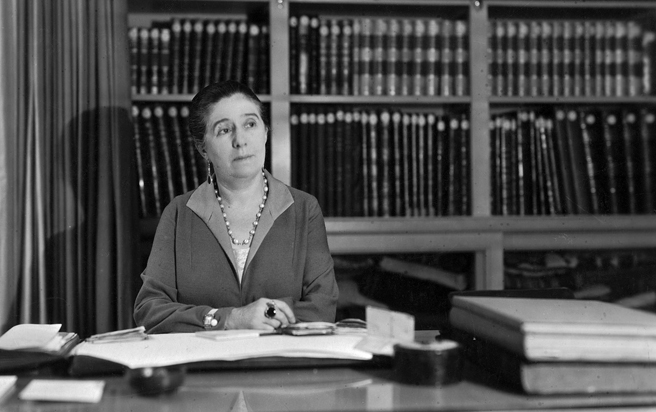 via fashioned by love | Jeanne Lanvin at her office