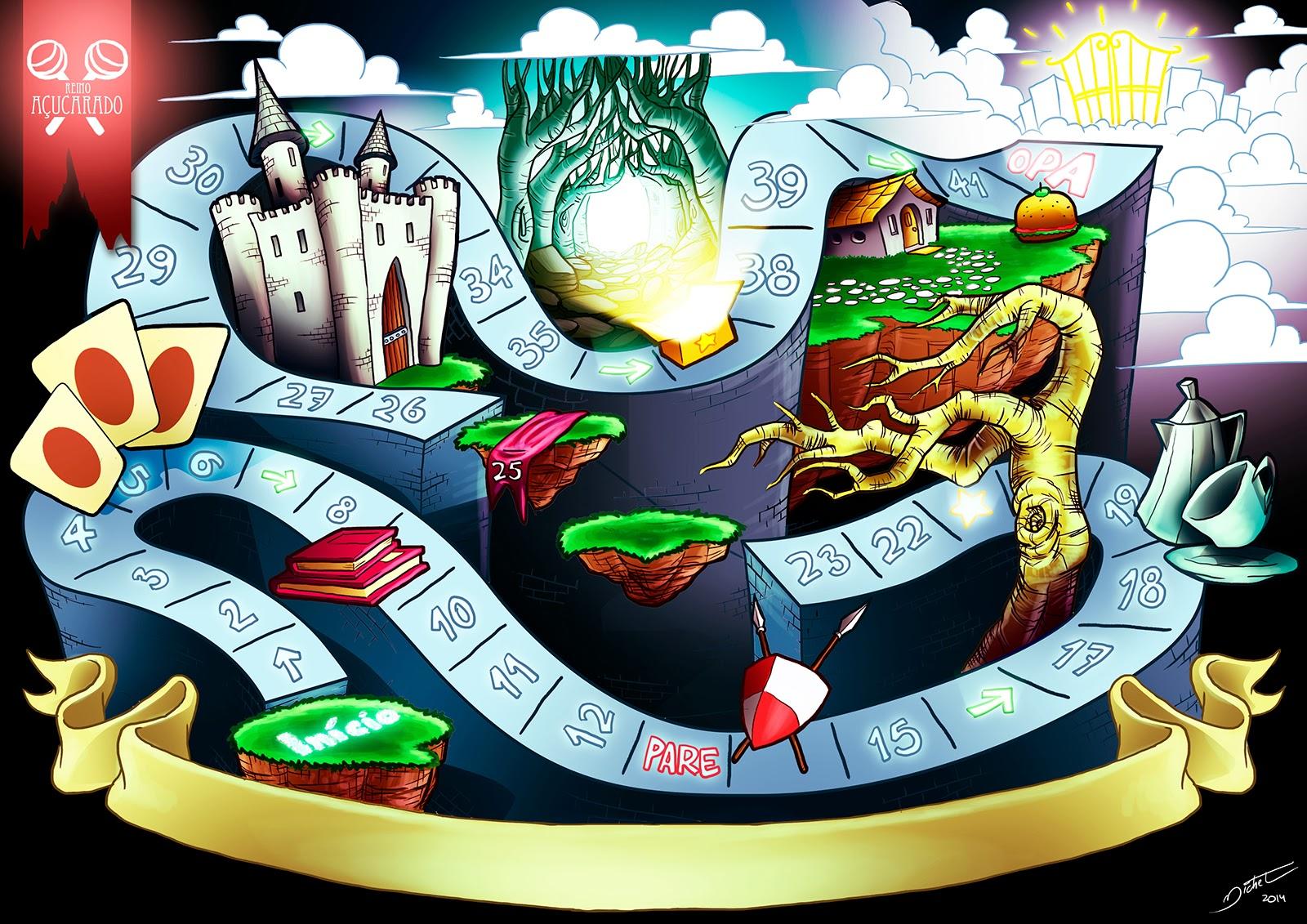 Tabuleiro de jogo - Michel Ramalho