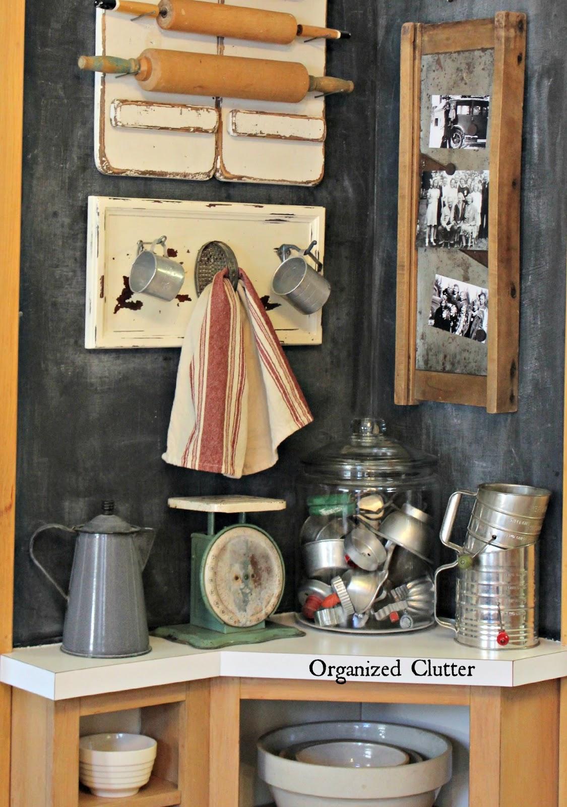 Repurposed Drawer Front Farmhouse Kitchen Hooks www.organizedclutter.net