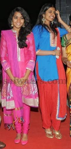 Hero Rajashekar Daughters in Salwars
