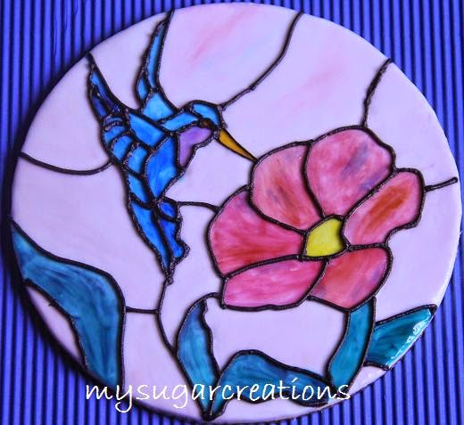 Stained Glass Cake Plaque Making Class