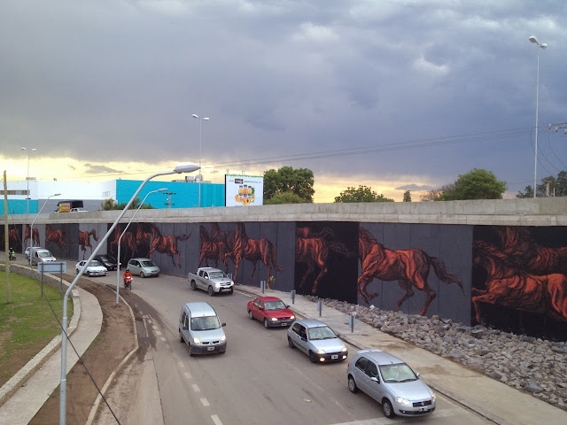 New Mural By Franco Fasoli aka JAZ for the Proyecto Puento In Cordoba, Argentina. 4