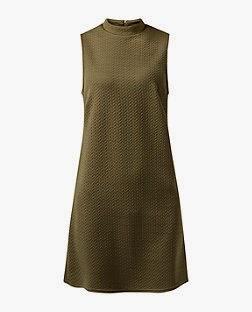 http://www.newlook.com/shop/womens/dresses/khaki-jacquard-high-neck-sleeveless-tunic-dress-_334696234