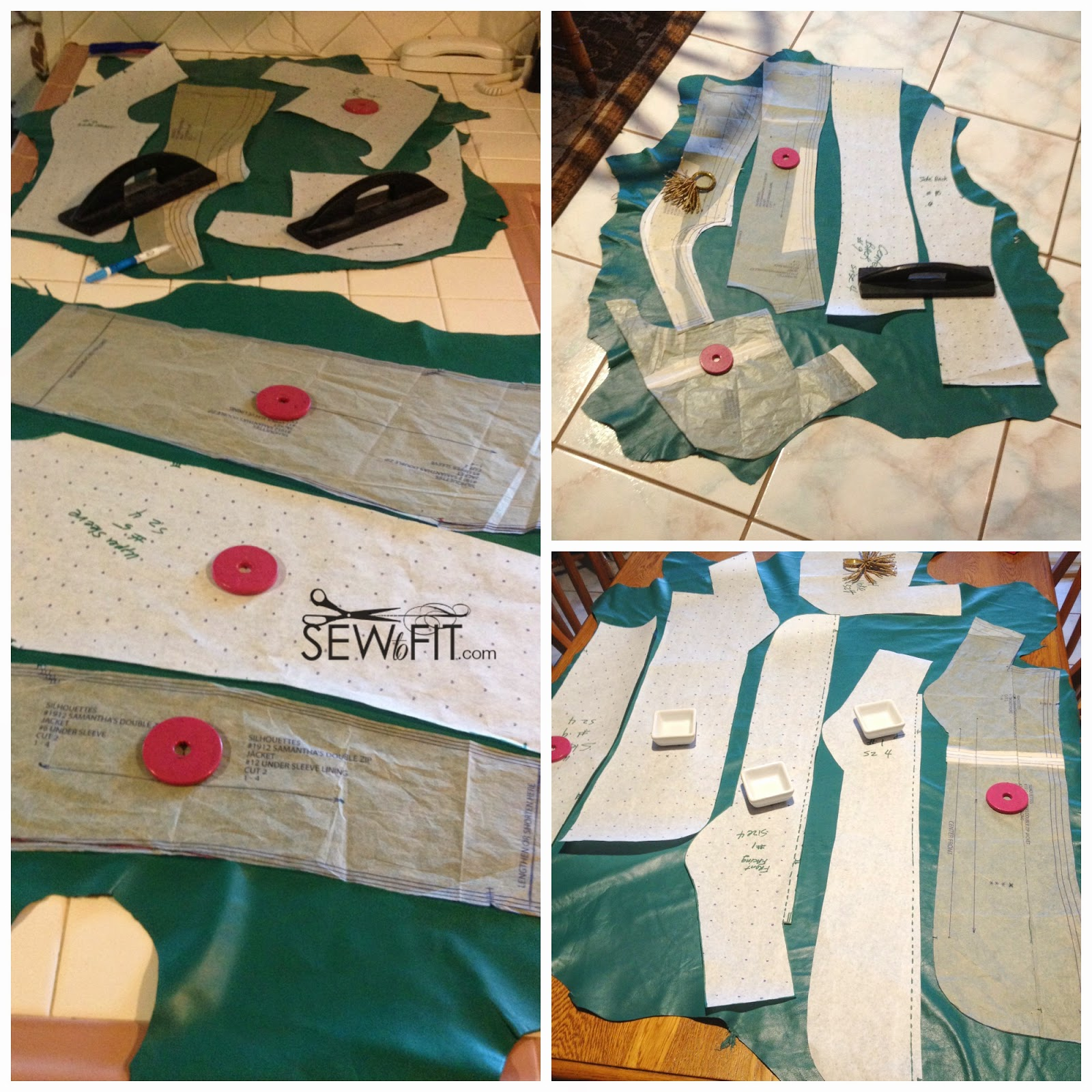 lambskin teal leather, sewing with leather, layout and cutting leather with sewtofit.com