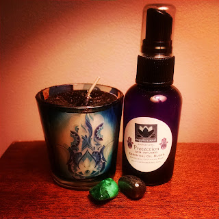 votive gemstone protection spray aroma fragrance protection ritual