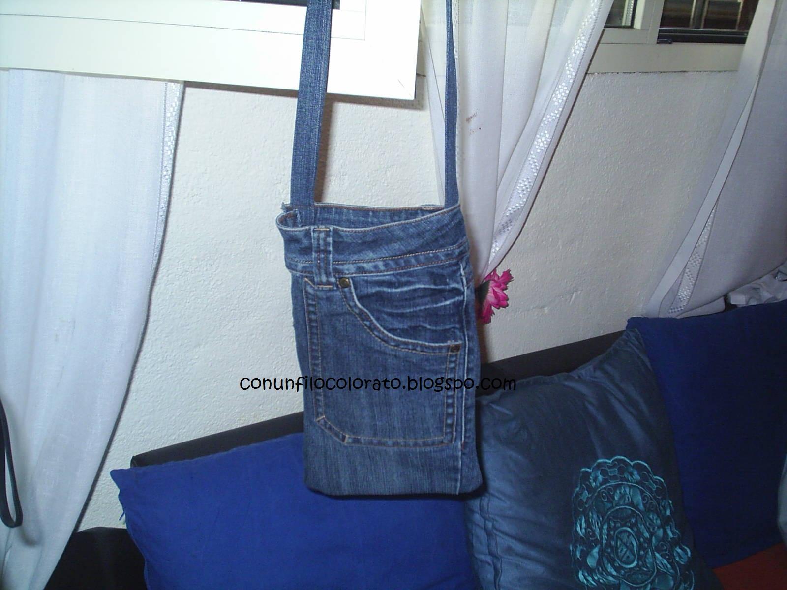 Borse Fatte A Mano Con I Jeans : Con un filo colorato borse in jeans modelli vari
