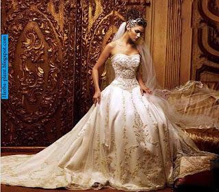 صور فساتين زفاف فاخرة 2013