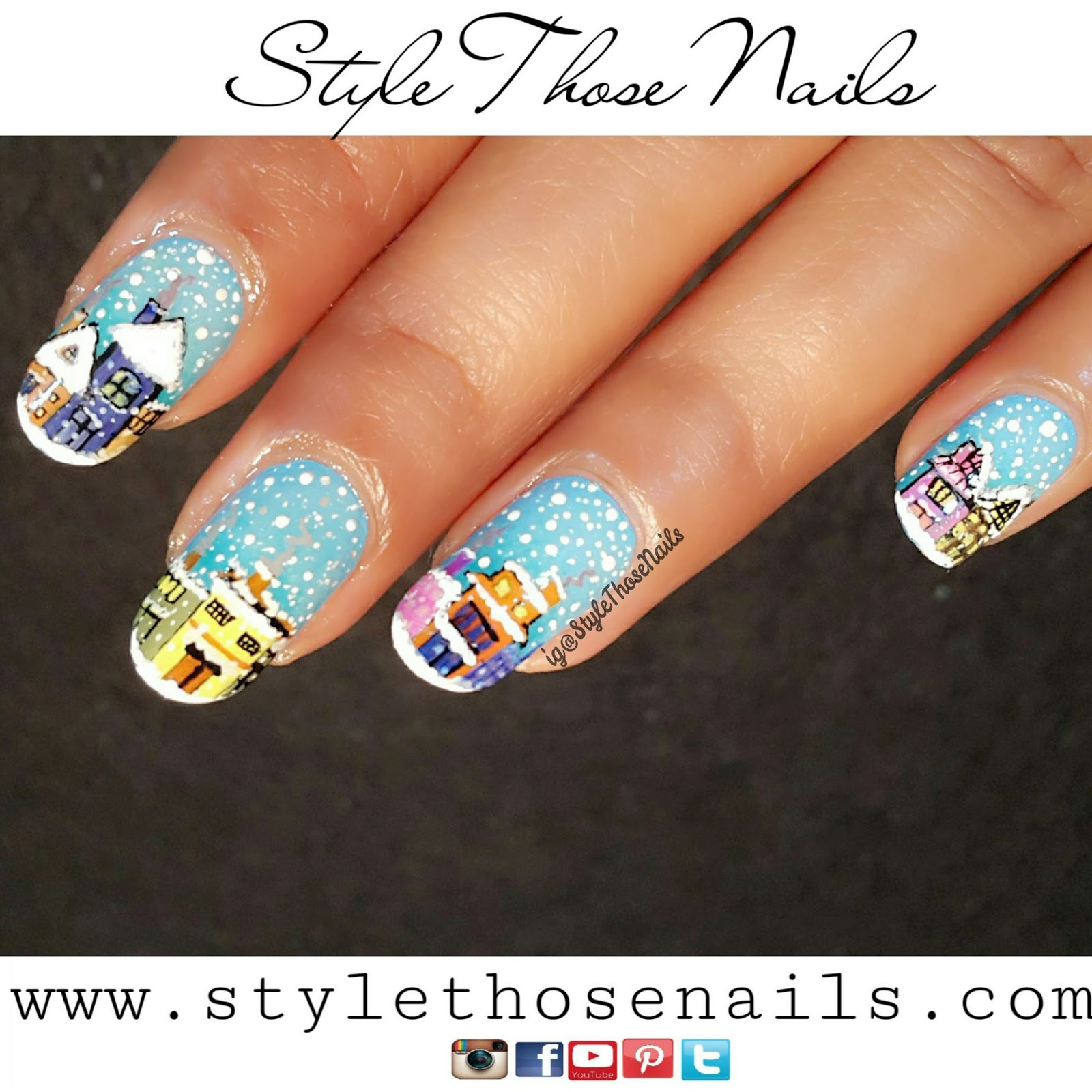 Style those nails snow nails today i am sharing snow fall nails i did for stylethosenailschallenges this nailart is easy and looks cute i have a tutorial at the end so do watch it prinsesfo Gallery