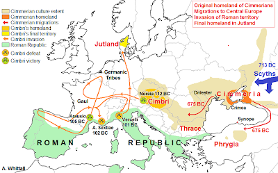 cimmerian cimbrian migrations