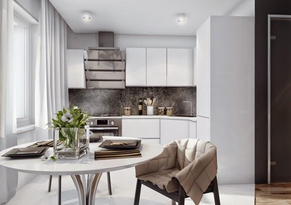 Proyecto apartamento minimalista para pareja joven for Decorar piso 56 m2