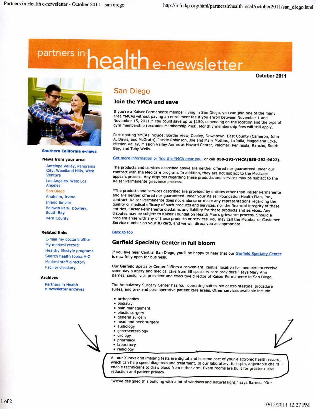 kaiser permanente essay Kaiser permanente is not an insurance plan kaiser permanente is two different parts the kaiser foundation health plan is the insurance, or administrative.
