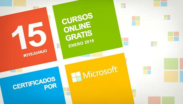 5 cursos online gratis certificados x Microsoft (enero 2016)