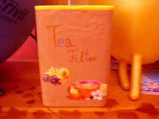 Filter tartó kakaós doboz dekorálva