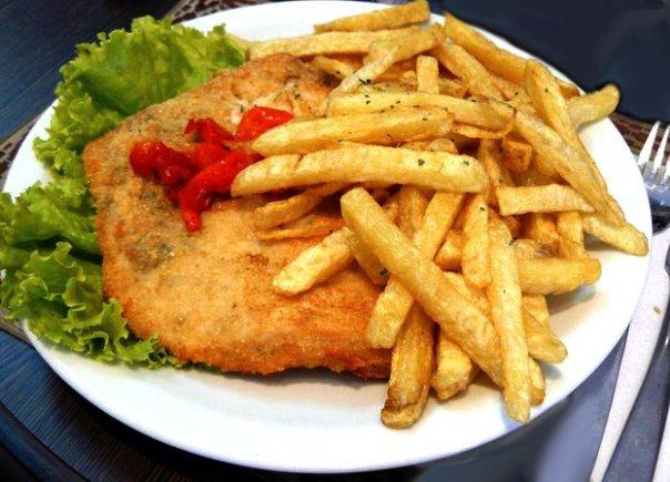 Resultado de imagen para merluza frita con papas