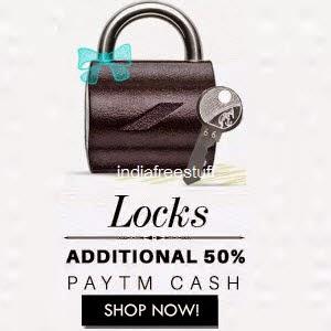 Buy Godrej, Parker & More Locks 50% Cashback (No minimum purchase) only at Paytm.