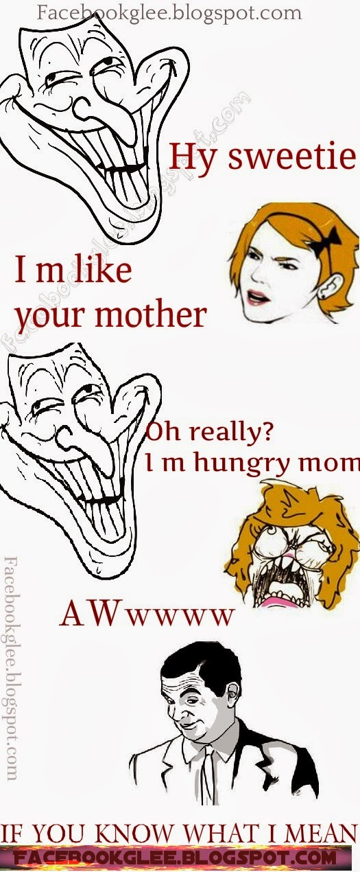 son and mom funny pic